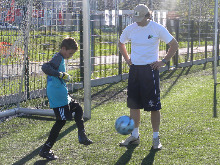 Football (soccer) training for goalkeepers